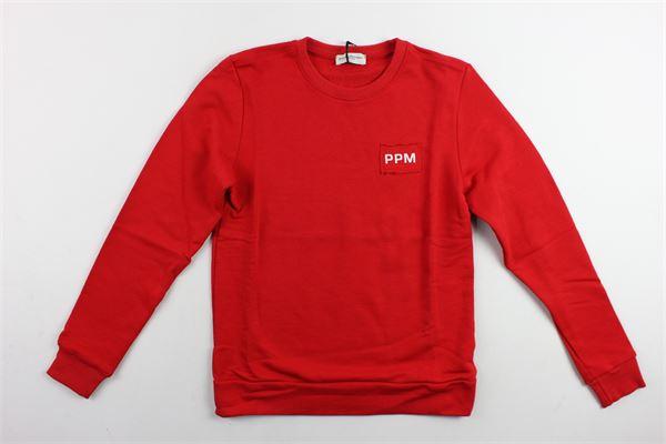 felpa girocollo tinta unita con stampa PAOLO PECORA | Felpe | PP1769ROSSO