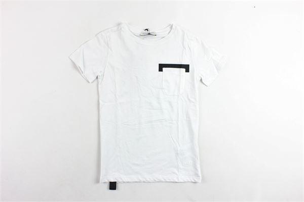 t-shirt mezza manica tinta unita profili in contrasto PAOLO PECORA | T-shirts | PP1773BIANCO