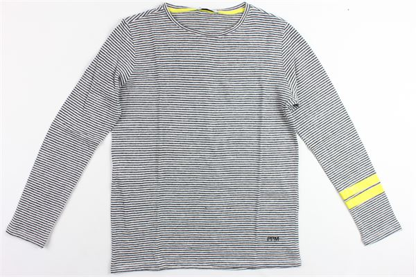 shirt manica lunga rigata in cotone PAOLO PECORA | Shirts | PP1776GRIGIO