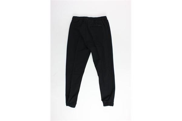 pantalone elastico in vita tinta unita PAOLO PECORA | Pantaloni | PP1867NERO