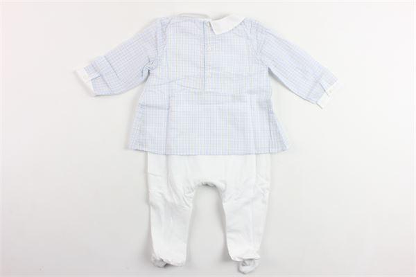tutina manica lunga in cotone camicia fantasia a quadri PATACHOU   Tutine   BAB2633121BIANCO