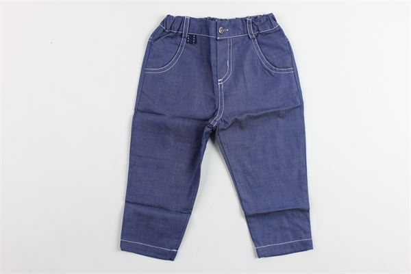 pantaloni tinta unita tasca america elastico in vita PATACHOU   Pantaloni   CAL2433363BLU