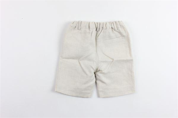 bermuda tasca america tinta unita elastico in vita in lino PATACHOU   Bermuda   CL2833380BEIGE