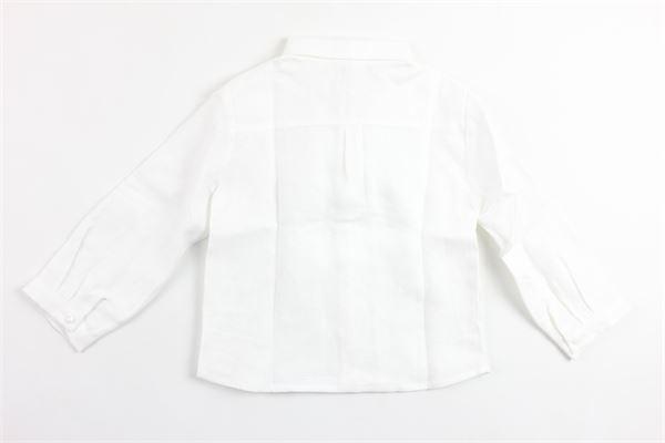 camicia manica lunga tinta unita in lino PATACHOU   Camicie   CM2433554BIANCO