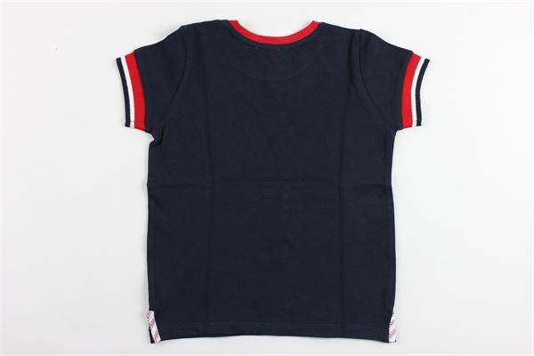 t-shirt mezza manica profili e taschino in contrasto PATACHOU   T-shirts   TSH2833345BLU