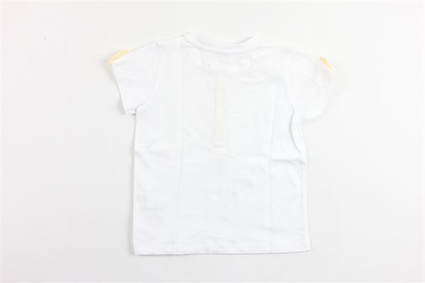 t-shirt mezza manica tinta unita con profili in contrasto PATACHOU   T-shirts   TSH2833610BIANCO