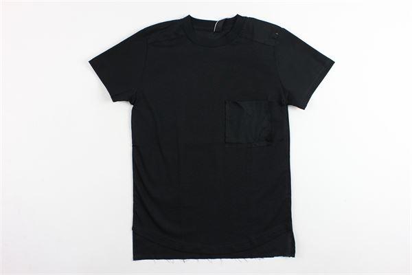 t-shirt mezza manica in cotone tinta unita con taschino PATRIOT | T-shirts | MB904NERO