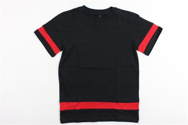 t-shirt mezza manica in cotone tinta unita con profili in contrasto PATRIOT | T-shirts | MB905NERO