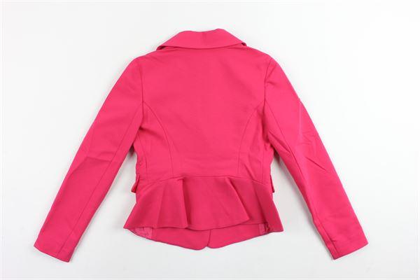 giacca elegante tinta unita avvitata PATRIZIA PEPE | Giacche | PJFCS41FUCSIA