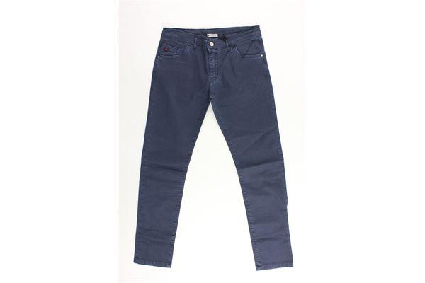 pantaloni tasca america tinta unita in cotone PEUTEREY | Pantaloni | PTB0613BLU