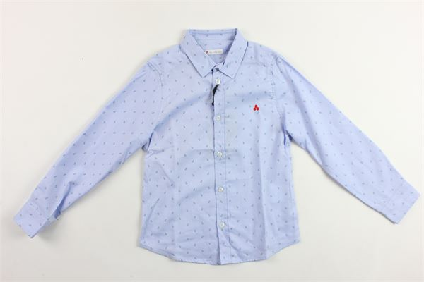 camicia manica lunga tinta unita microfantasia PEUTEREY | Camicie | PTB0668AZZURRO