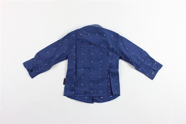 camicia manica lunga tinta unita microfantasia PEUTEREY | Camicie | PTB0829BLU