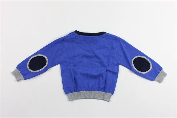 maglia manica lunga in cotone con toppe PEUTEREY | Maglie | PTB0881COBALTO
