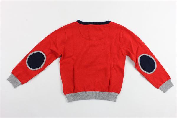 maglia manica lunga in cotone con toppe PEUTEREY | Maglie | PTB0881ROSSO