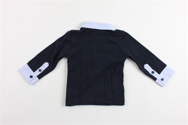 polo manica lunga tinta unita con profili in camicia PEUTEREY | Polo | PTB0915BLU