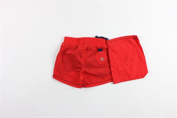 costume boxer tinta unita con applicazione PEUTEREY | Costumi | PTB1044ROSSO