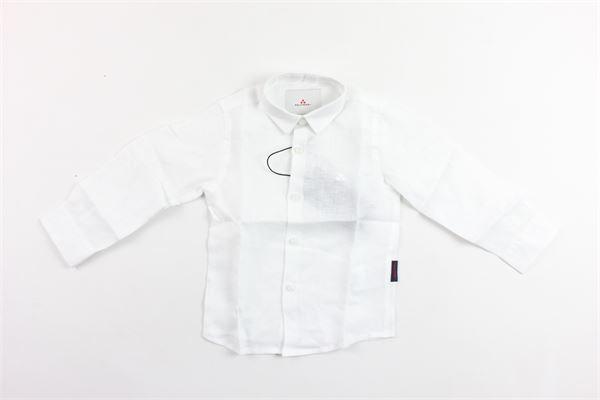 camicia manica lunga tinta unita con logo in lino PEUTEREY | Camicie | PTB1172BIANCO