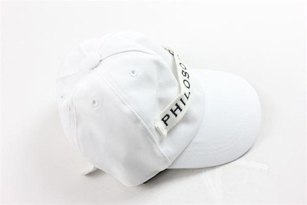 cappello modello berretto con stampa PHILOSOPHY | Cappelli | PJCP01BIANCO