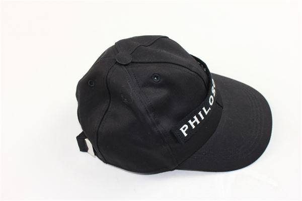 cappello modello berretto con stampa PHILOSOPHY | Cappelli | PJCP01NERO
