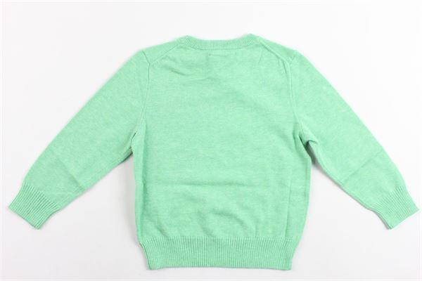 maglia girocollo tinta unita con logo ralph lauren RALPH LAUREN | Maglie | 321690740004VERDE