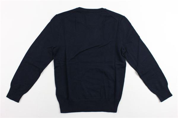 maglia girocollo tinta unita con logo ralph lauren RALPH LAUREN | Maglie | 322702192010BLU