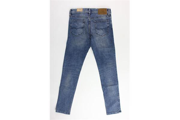 jeans tinta unita 5 tasche modello skinny RALPH LAUREN | Jeans | 321737136001AZZURRO