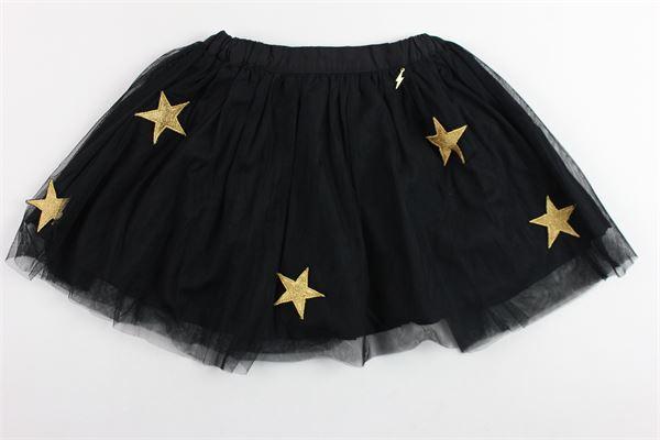 gonna in tulle tinta unita con applicazioni stelle dorate RELISH   Gonne   GORE208NERO