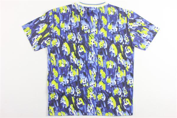 t-shirt mezza manica tinta unita con taschino ROBERTO CAVALLI | T-shirts | GJT616BLU