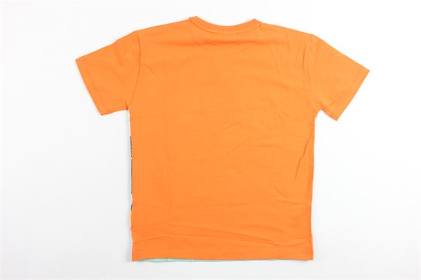 t-shirt mezza manica in cotone stampa fantasia ROBERTO CAVALLI | T-shirts | GJT672ARANCIONE