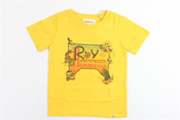 t-shirt mezza manica tinta unita con stampa ROY ROGER'S | T-shirts | T-SHIRTROYROGER'S3GIALLO