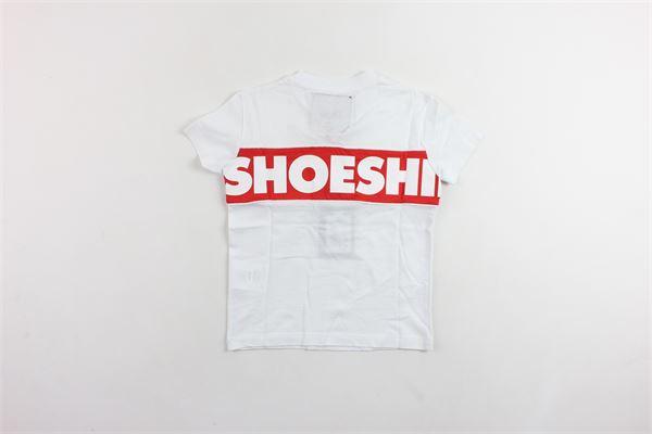 t-shirt mezza manica in cotone tinta unita con stampa SHOE | T-shirts | E9TM7426BIANCO