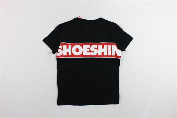 t-shirt mezza manica in cotone tinta unita con stampa SHOE | T-shirts | E9TM7426NERO