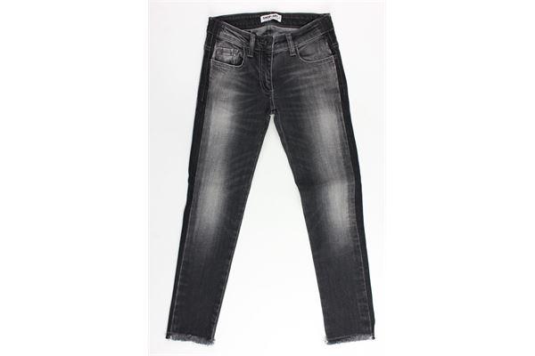 jeans tinta unita 5 tasche sfangiato SHOPART   Jeans   011946NERO