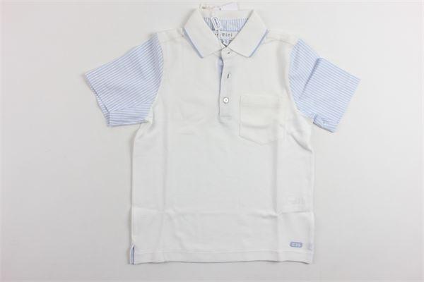 polo mezza manica con taschino profili maniche in camicia SIMONETTA | Polo | 2G8501BIANCO
