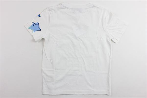 t-shirt tinta unita mezza manica in cotone con stampa SIMONETTA | T-shirts | 2G8581BIANCO