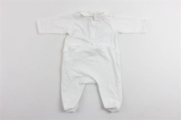 tutina manica lunga in cotone con stampa SIMONETTA | Tutine | 6C8570BIANCO