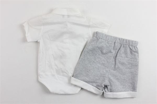 completo camicia a body più bermuda SIMONETTA | Completi | 6G6569BIANCO