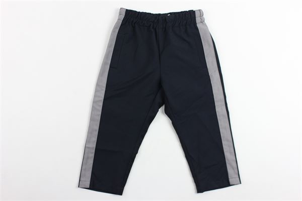pantalone tinta unita elastico in vita tasche a filo profili in contrasto SKILL-OFFICINE | Pantaloni | PANTSPORTBLU