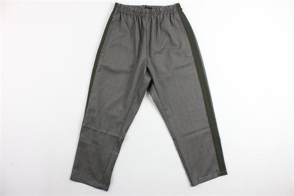 pantalone tinta unita elastico in vita tasche a filo profili in contrasto SKILL-OFFICINE | Pantaloni | PANTSPORTGRIGIO