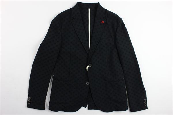 giacca tinta unita microfantasia SP1 | Giacche | B3300965NERO