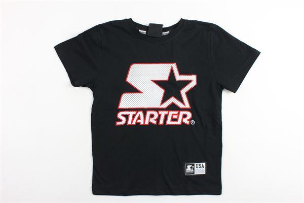 t-shirt mezza manica tinta unita con stampa STARTER | T-shirts | TSST9112JNERO