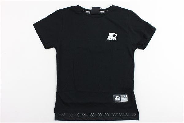t-shirt mezza manica tinta unita con stampa STARTER | T-shirts | TSST911JNERO