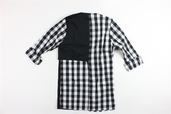 camicia collo coreano stampa a quadri STARTUP | Camicie | CAMB601NERO