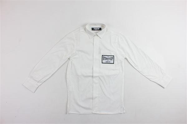 camicia tinta unita manica lunga con taschino STARTUP | Camicie | CAMB603BIANCO