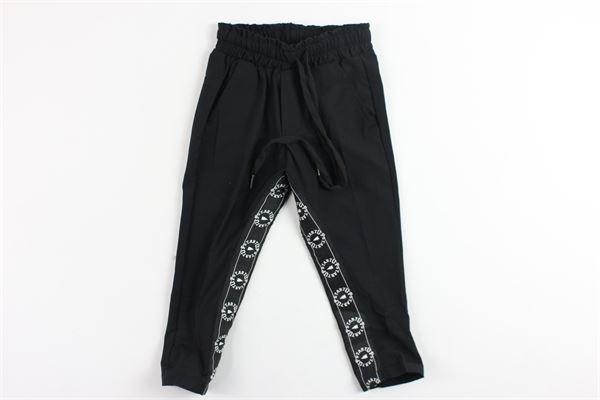 pantalone tinta unita elastico in vita loghi interno gamba STARTUP | Pantaloni | PB609NERO