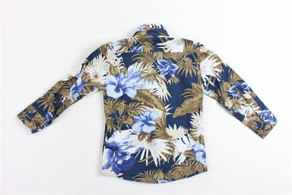 camicia manica lunga stampa floreale STAY STREET | Camicie | CB901BLU