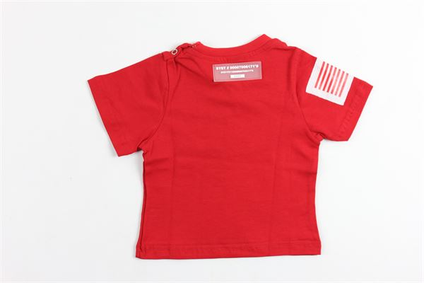 t-shirt mezza manica tinta unita con stampa STAY STREET | T-shirts | TN900ROSSO