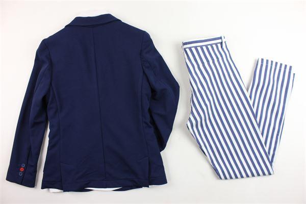 completo abito cerimonia giacca più camicia con papillion e pantalone STILOSI | Completi | 4080BLU