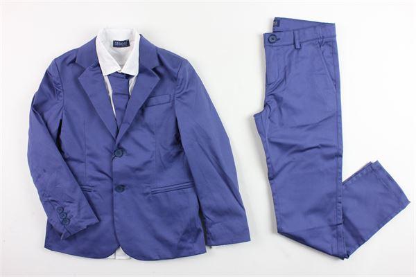 completo abito cerimonia giacca più camicia con cravatta e pantalone STILOSI | Completi | 4091BLU