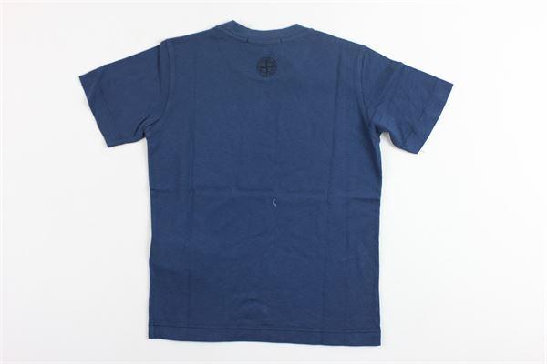t-shirt mezza manica con stampa stone island STONE ISLAND | T-shirts | 681621933V001BLU
